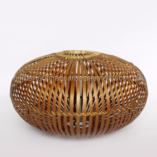 Bamboo Wicker Lantern with Handles/ Weaving bamboo lantern from VietNam
