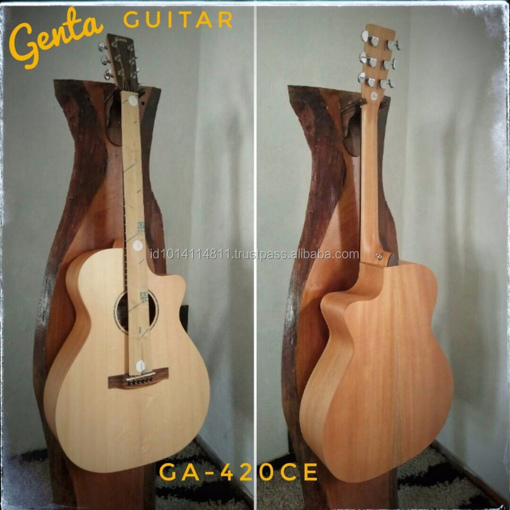 High End Acoustic Guitar Spruce and Mahogany Material GA-420-CE