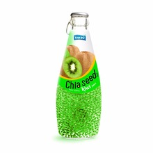 ISO/HACCP/FDA/GMP/HALAL/Basil Seed drink/Chia Seed drink with Kiwi flavor