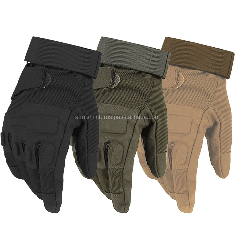 Hard Knuckle Full Finger Military Airsoft Shooting Tactical Gloves
