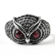 Antique Garnet Owl Ring Handmade 925 Sterling Silver Jewelry Wholesale Gemstone Rings Supplier