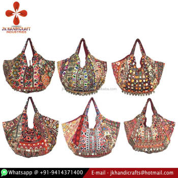 Wholesale Vintage Tribal Mirror Work Designer Embroidered Banjara Bags