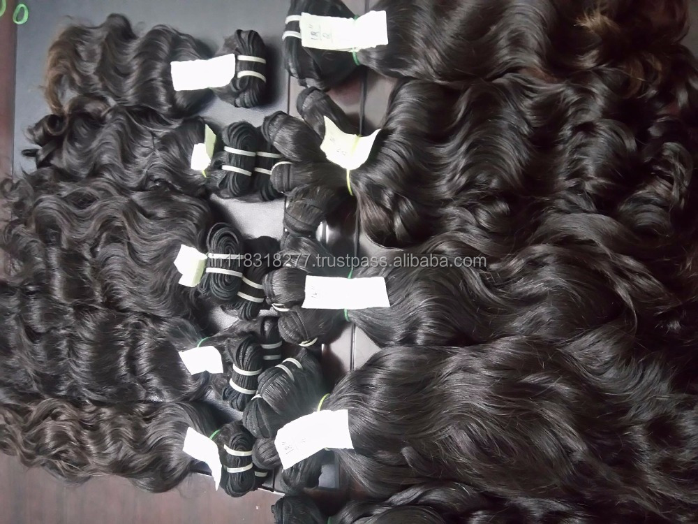 factory perfect black lady 100% virgin remy hair
