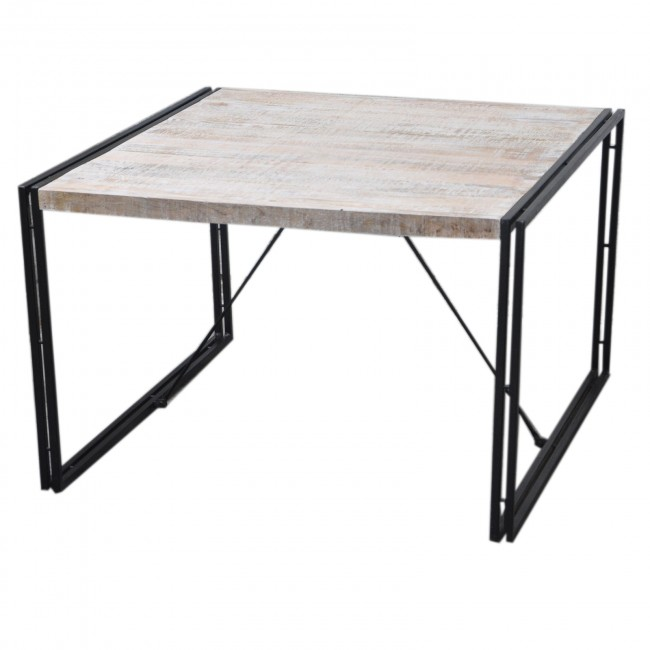 BARN Industrial Square Dining Table 120Cm White