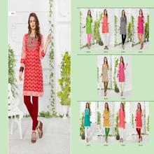 Hot Chilly Cotton Fabric Full Stitched Ready To Wear Fancy Dailywear Kurti Kurta For Indian Women And Girls