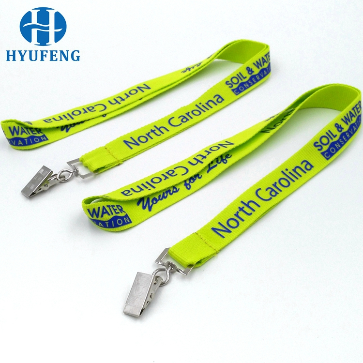 Hot Sale Green Color Silk Screen Print Cheap Lanyards