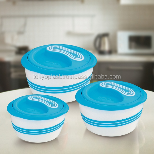 PALAZIO FOOD CONTAINER SET 3 PCS - 500 ML, 1000 ML, 2500 ML - MATT FINISH
