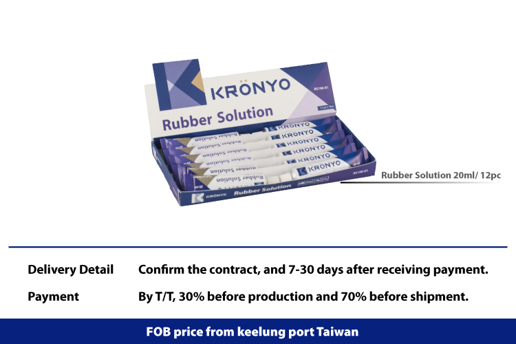 KRONYO RS190-01 20ml*12 Aluminum body the tire rubber glue, all kinds of tires with patch use
