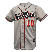 Short Sleeve Full Button Men's Baseball Jersey, Grey Shining embroidery Baseball Jersey For Men, Sport summer adult baseball