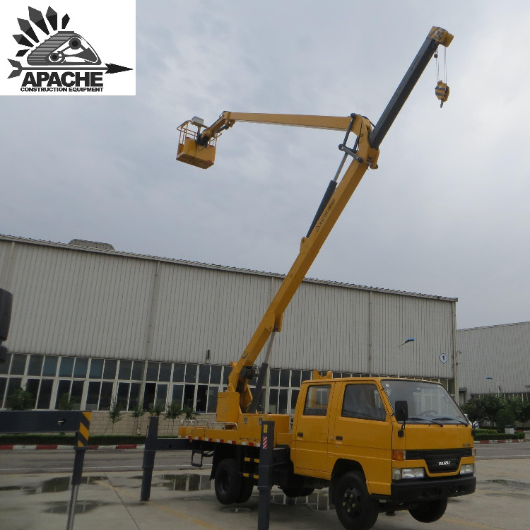 Truck Mounted Aerial Platforms Manlift Cherry Picker With Lifting Boom Vehicle