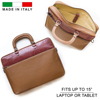 Genuine Lizard Leather Skin Luxury High End Laptop Messenger Bag Office Business Made in Italy