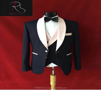 New Product 3 Piece Dark Blue Groom Wedding Suit Men