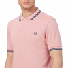 Pink tipped polo shirt/customized stylish men's casual cotton polo T Shirt