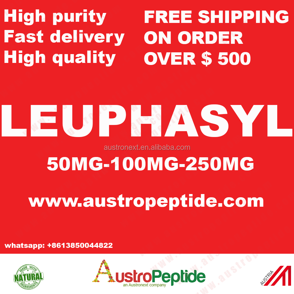99.9% purity Leuphasyl / Pentapeptide-18 cosmetic peptide