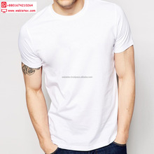 Round Neck Plain White T-shirts For Men, Solid Colour T-shirt Factory From Bangladesh