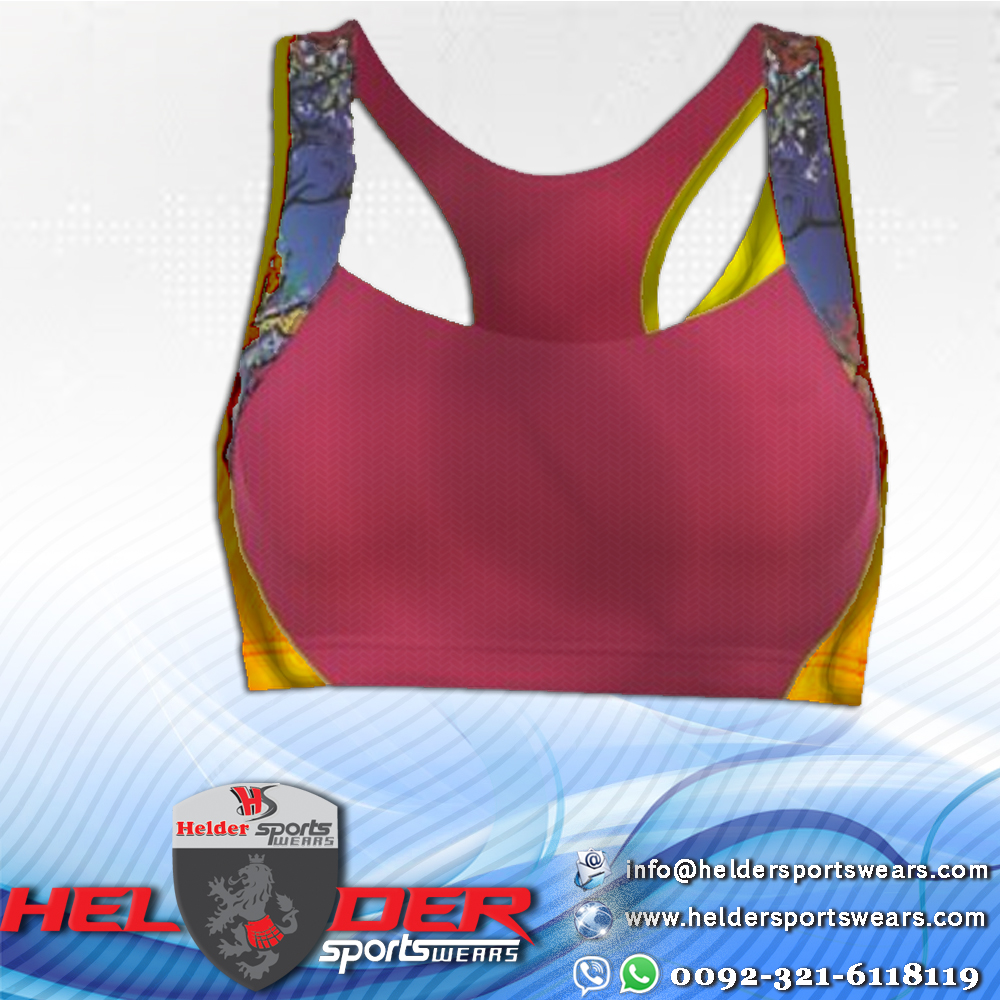Ladies Fitness Sublimation New Design Bra / Ladies Printed Bra / Ladies Sports Wear Bra / Yoga Bra
