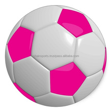Classic Hand Stitched White and pink Soccer Ball