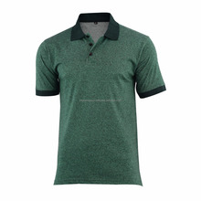 Wholesale Melange Cotton Jersey Made Men's Plain Polo Shirts at Factory Price