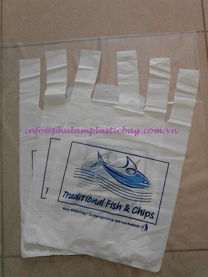 HDPE, LDPE, LLDPE shopping bag for Europe market