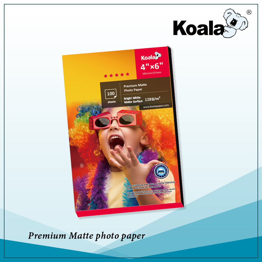 Premium Koala 135g Inkjet Photo Sticker Paper, Ultra glossy self adhesive photo paper A4