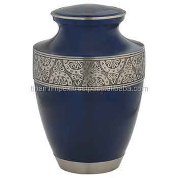Engraved solid brass cremation urns