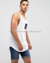 2017 wholesale high quality gym clothes manufacture athletics men tank top manufacture by Hawk Eye Co.