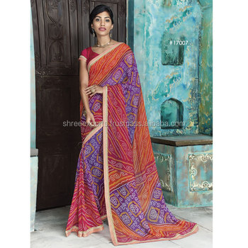 Georgette Multi Color Designer Saree / Online Saree Shopping / Sarees On Online Shopping