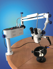 Temporal Bone Dissection Microscope with Bone Holder