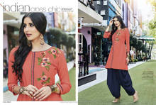 rayon kurti with embroidery work