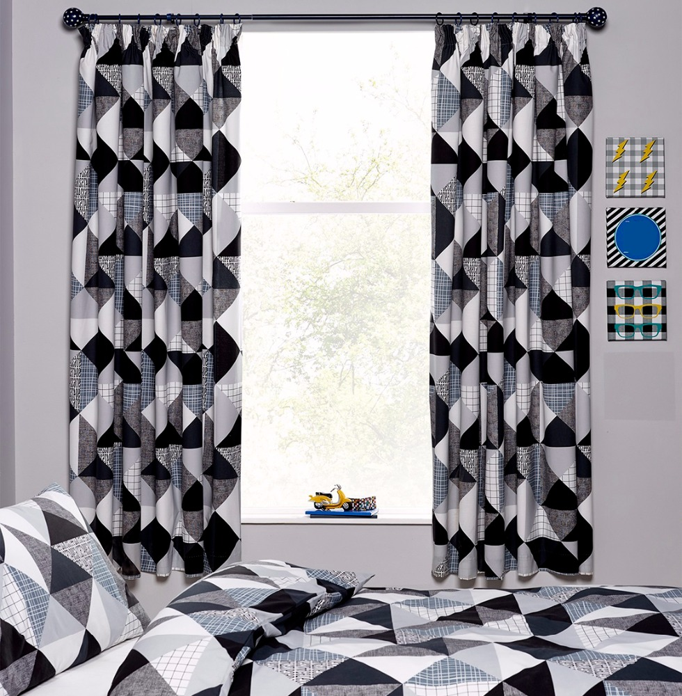 Window Curtain Pair Matching With Bed Set