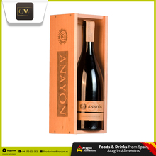 Premium Dry Red Wine from Spain in a Wooden Box | Anayon Terracota Carinena Reserva | Grandes Vinos