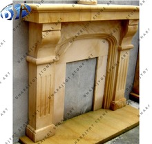 yellow sandstone chimney fireplace for outdoors