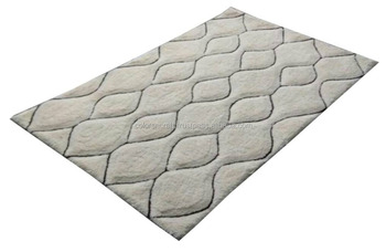 latest style plain polyester rug new fashion