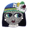 Acrylic Stones Beads queen face Embroidery Patches