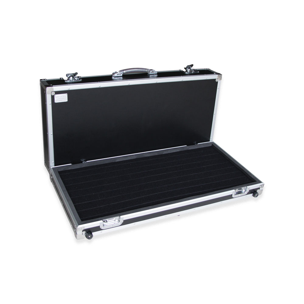 Aluminium electrical guitar effect pedal travel case made in Thailand