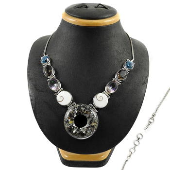 Best selling natural gemstone necklace 925 sterling silver jewelry wholesale necklace handmade silver jewelry