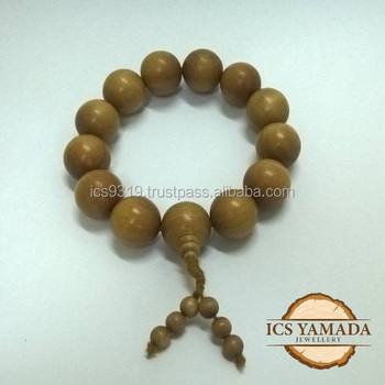 Govnt Auction Mysore Genuine Sandalwood Beads 16mm Old Mountain