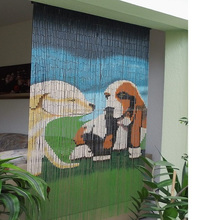 Animal picture bamboo painted bead door curtain wholesale