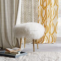 Beautiful Mongolian Wooden Lamb Wool Stool for Living Room