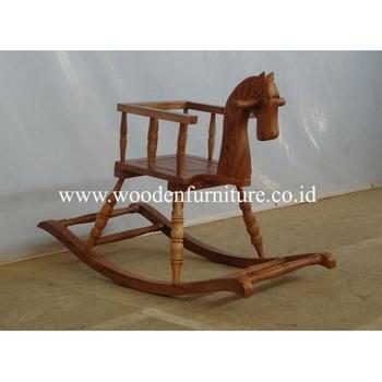 Kids Horse Chair Antique Children Riding Horse Wooden Kids