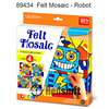 Felt Mosaic education toys robot kit diy craft art kit