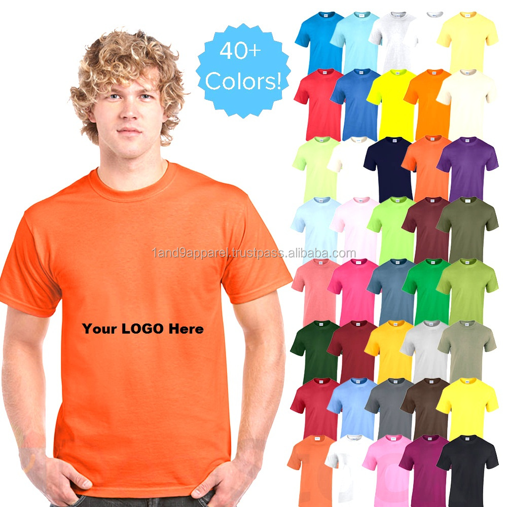 Wholesale half sleeve 100% heavy cotton 180 GSM blank T shirt manufacturer Bangladesh