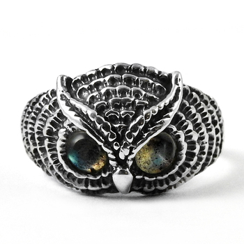 Fear Look Labradorite Antique Owl Ring 925 Sterling Silver Jewelry Supplier Gemstone Rings Wholesale India