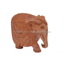 Exclusive Indian hand made wooden carving elephant for home/office decor gifted item