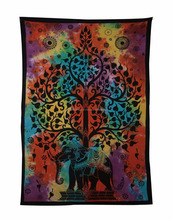 Elephant tree tapestry with good luck indian mandala tapestries hippie gypsy wall art mandala tapestry wall hanging