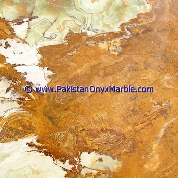 DECORATIVE MULTI BROWN/GOLDEN ONYX FLOOR TILES COLLECTION
