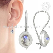 Glorious rainbow moonstone earring 925 sterling silver earring jewelry wholesale supplier