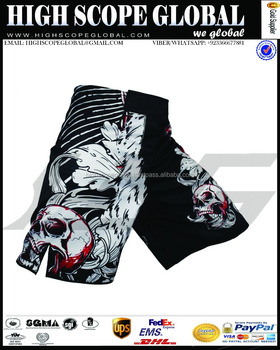 MMA Shorts Grappling Kick Boxing Mens Muay Thai Cage Fight Trunks Board Shorts Fighting Club Martial Arts Polyester shorts