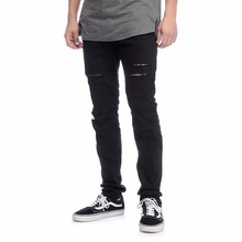 ZegaApparel custom plain black distressed slim fit jeans