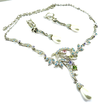 Splendid multi gemstone designer jewellery set for girls 925 sterling solid silver wholesale jewelry silver sets